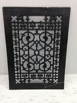 Antique Cast Iron 11x8 Square Grate Vent Register Floor Wall Victorian Steampunk