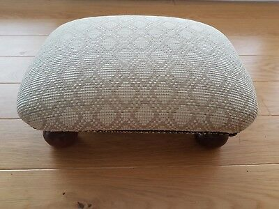Wooden upholstered footstool W33cm x L45cm x H15cm