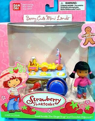 Strawberry shortcake Ginger Snap Berry cute mini lands RARE