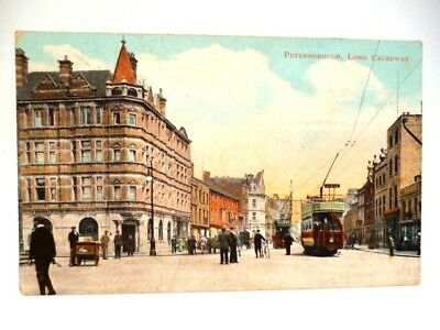 Peterborough--Long Causeway 1905--With Tram--Cambridgeshire