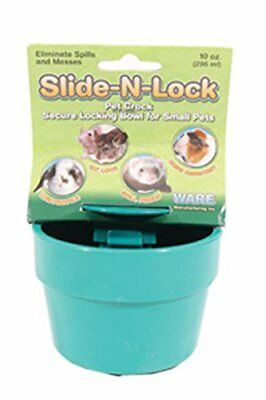 Ware Manufacturing Plastic Slide-N-Lock Crock Bowl for Small Pets Assorted Color