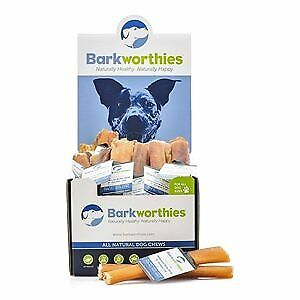 Barkworthies 50 count Bully Sticks Odor Free American 5-6 in. Double Cut Mini