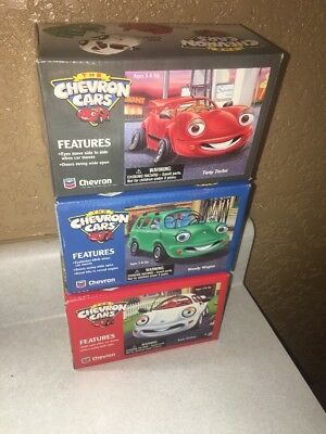 NEW Lot of The 3 Original Chevron Cars TONY TURBO, SAM SEDAN & WENDY WAGON