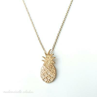 Collier Ananas - Plaque Or 750/000 Certifie