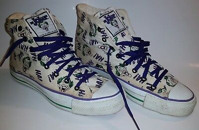 MADE IN USA 1989 JOKER CONVERSE DC COMIC Size 8 US Beautiful Condition!