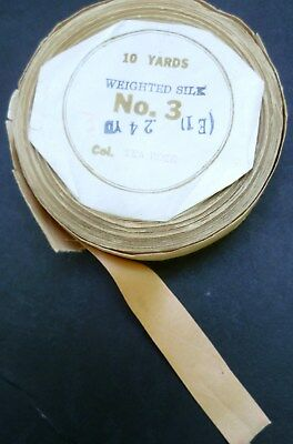 Antique TEA ROSE Spool of WEIGHTED SILK RIBBON Bloomingdale's