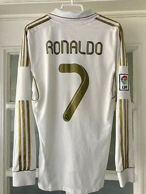 Real Madrid 11 12 Jersey Long Sleeve Ronaldo 7 Official Shirt LS 2012-2012