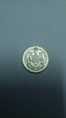 Canadian 1965 silver fifty 50 cent piece half dollar coin