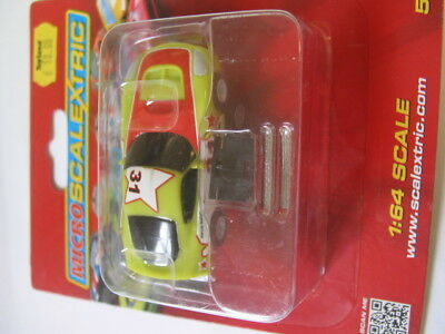Micro Scalextric  1/64Th Scale  G2160 Gt Car Green 31 New