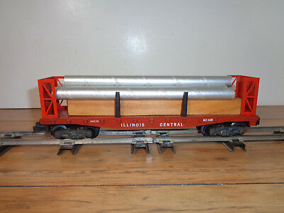 American Flyer S Gauge # 24597 Illinois Central Multi-Purpose Flat Car And Parts