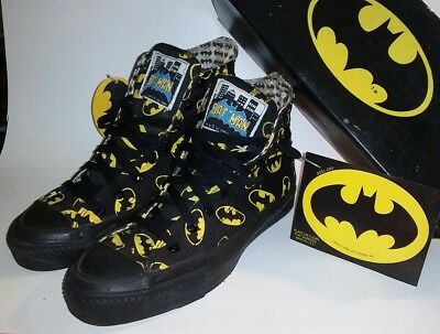 Vintage 80S 1989 Size 8 BATMAN CONVERSE DC COMIC USA SNEAKER SHOES Box Tags etc!