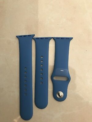 New Genuine 38MM Blue Rubber Sports Apple Watch Strap
