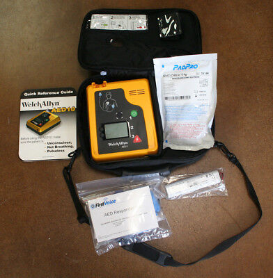 Welch Allyn AED 10 with New Battery, Pads, &  Case Ready Tested