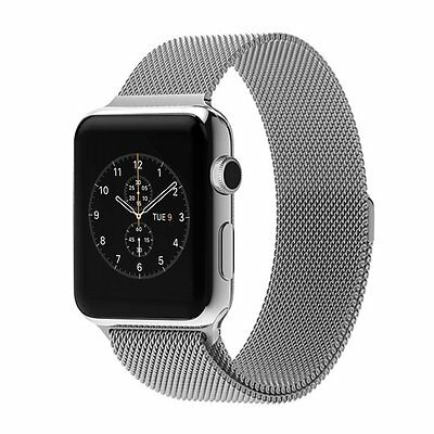 New Genuine 38MM Silver Milanese Apple Watch Strap