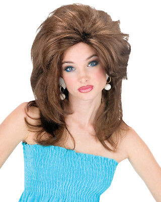 Adult Womens Brown Midwest Momma Big Texas Hair Wig Costume Accessory