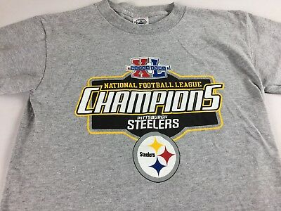 Pittsburgh Steelers T-Shirt Youth Large 14 16 Kids Super Bowl XL Champions  NFL fabd8361f