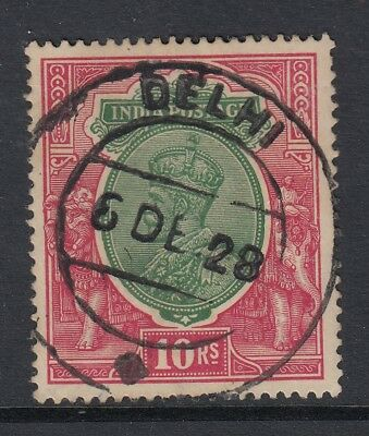 """INDIA - SG. 217 :  1926 / 1933  """"  10 Rupees  - Fine used with Delhi CDS"""
