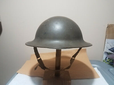 WWII BRITISH Helmet w/ Liner and Chinstrap