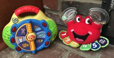 Leap Frog Spanish/English Bilingual Lot Of 2: First Words Radio & Counting Crab