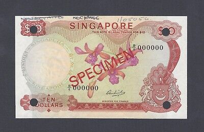 Singapore 10 Dollars ND(1971) P3cs Specimen Uncirculated