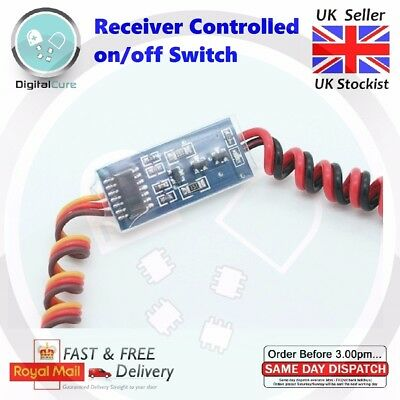 1ch Electronic On/Off RC Receiver Controlled Remote Switch - Rx/Tx