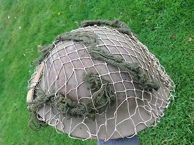 Original Ww2 Tommy Helmet 1939 Dated With Netting & Liner