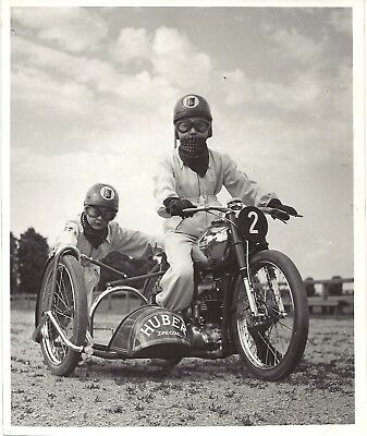 Original press photo 3 pictures 1951 Huber brothers  youngest speedway riders