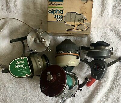 Vintage Fishing Real Lot Of 7 Mixed Zebco