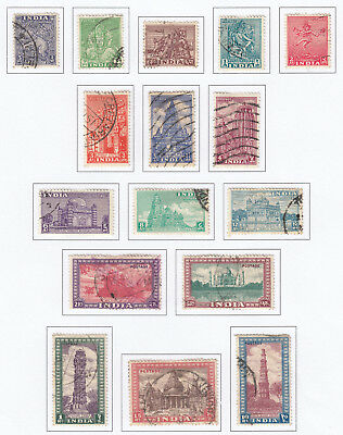 INDIA-1949-52 Set to 15r Sg 309-324 FINE USED