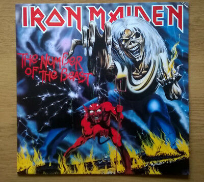 IRON MAIDEN The Number Of The Beast 1982 UK VINYL LP EXCELLENT CONDITION Fame