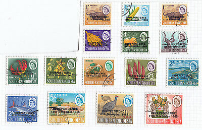 Rhodesia 1966 Definitives Independence  SG 359-73 - fine used