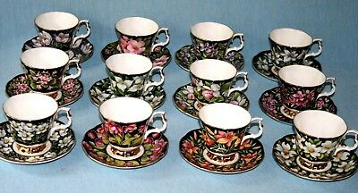 Royal Albert ' Provincial Flowers ' Coffee Cup & Saucer - English Bone China