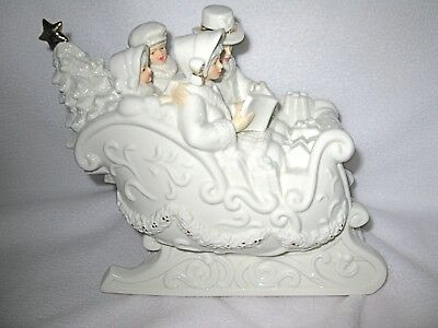 Victorian  Family Sleigh Ride With Music Box
