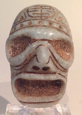 Taino Marble Ancestral Or Deity Mask. PreColumbian