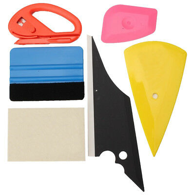 FP Car Wrap Application Vinyl Tool Kit 3M Felt Squeegee Snitty Cutter 6 pieces t