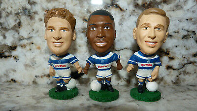 3 QPR GALLEN IMPEY & McDONALD 1995 CORINTHIANS PROSTAR BIG HEAD FOOTBALL FIGURES
