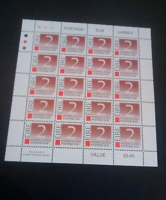 Ireland Stamps mnh postage dues full sheet