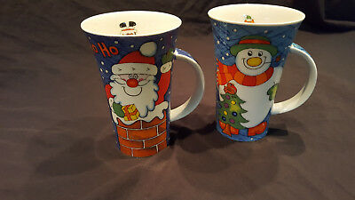 Dunoon Stoneware Christmas Mugs by Jane Brookshaw
