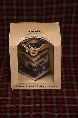 Ringtons Maling Miniature Replica Jug Willow Pattern - by Wade 1997 - Boxed