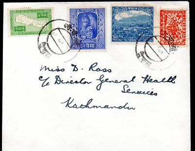 Nepal Cover with Various Issues from 1907 and 1954