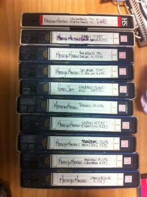 10 Vhs Marilyn Manson With 17 Concert Tapes Pal Free Shipping