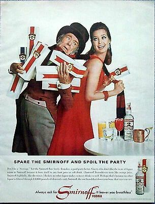 1965 Smirnoff Vodka Don't Be Scrooge Spare Smirnoff Spoil Party Breathless ad