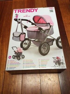 Bayer Design Doll Pram (Pink/ Grey)