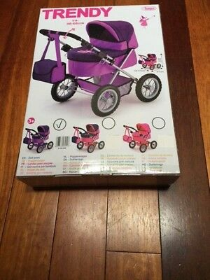 Bayer Design Doll Pram (Purple/black)