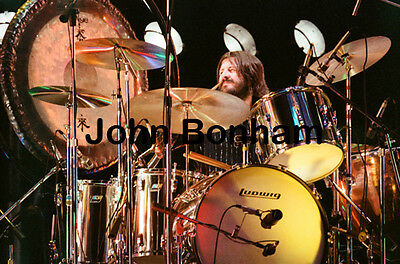 "12""*8"" concert photo of John Bonham playing at Knebworth 1979"