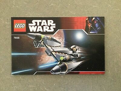 Lego Instruction Manual Only Star Wars 7656 General Grievous