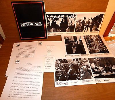 1982 Press Kit Monsignor Christopher Reeves: 6 - 8 X 10 Photos, Folder & Cast