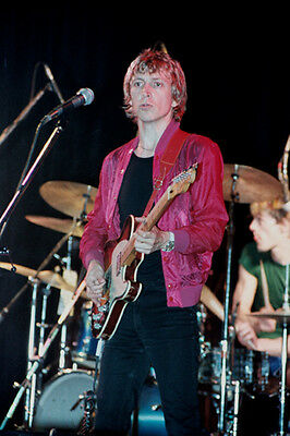 """10""""*8"""" concert photo of Andy Summers of The Police playing at Liverpool in 1979"""