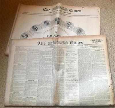 Vintage Old Original News Paper The Times 24 May 1924 + British Empire Section