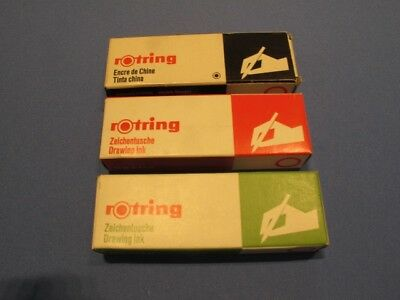 Rotring Ink – Red & Green, 23 ml Bottles